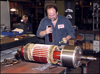 Dc electric motor repair for Industrial electric motor repair